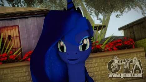 Luna from My Little Pony para GTA San Andreas tercera pantalla