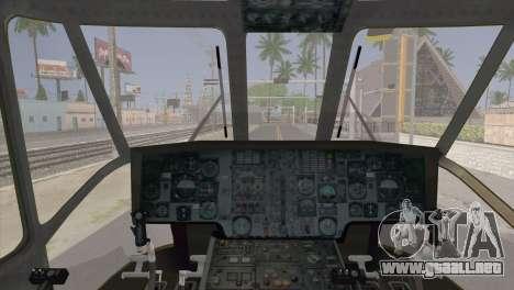 Helicopter Nuri Malaysia Mod (Seaking) para la visión correcta GTA San Andreas