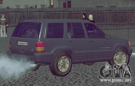 Jeep Grand Cherokee ZJ para GTA San Andreas left