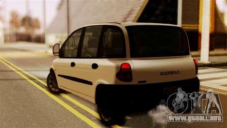 Fiat Multipla Black Bumpers para GTA San Andreas left
