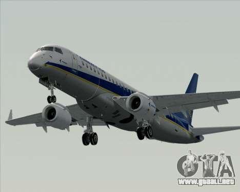 Embraer E-190-200LR House Livery para vista inferior GTA San Andreas