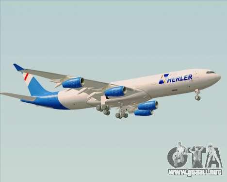 Airbus A340-300 Air Herler para la visión correcta GTA San Andreas