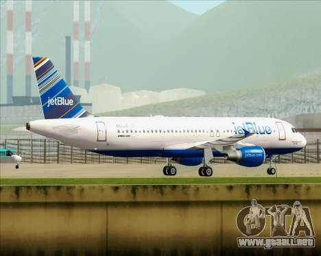 Airbus A320-200 JetBlue Airways para las ruedas de GTA San Andreas