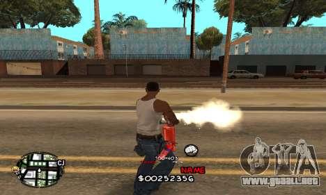 C-HUD by Jackson para GTA San Andreas tercera pantalla