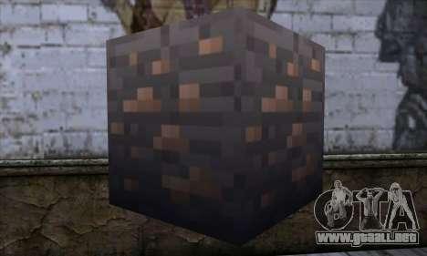 Bloque (Minecraft) v7 para GTA San Andreas segunda pantalla