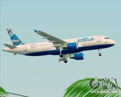 Airbus A320-200 JetBlue Airways para vista lateral GTA San Andreas