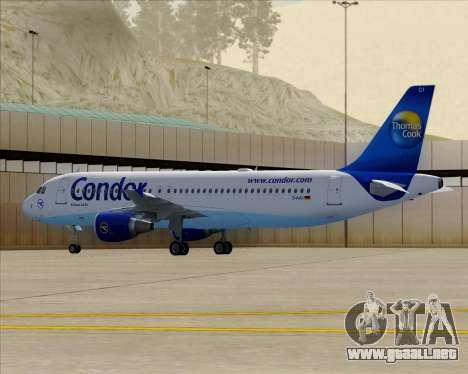 Airbus A320-200 Condor para la vista superior GTA San Andreas
