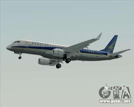 Embraer E-190-200LR House Livery para GTA San Andreas vista posterior izquierda