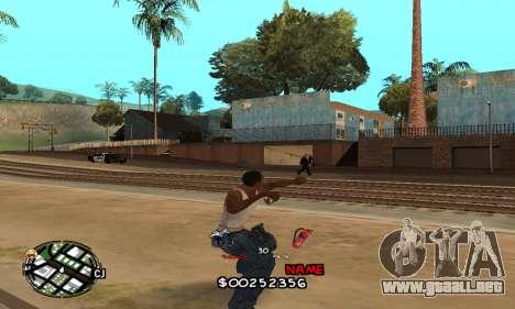 C-HUD by Jackson para GTA San Andreas sucesivamente de pantalla