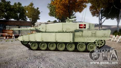Leopard 2A7 DK Green para GTA 4 left