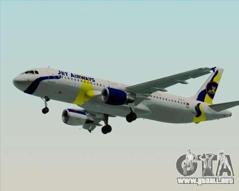Airbus A320-200 Jet Airways para las ruedas de GTA San Andreas