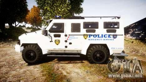 SWAT Van Police Emergency Service para GTA 4 left