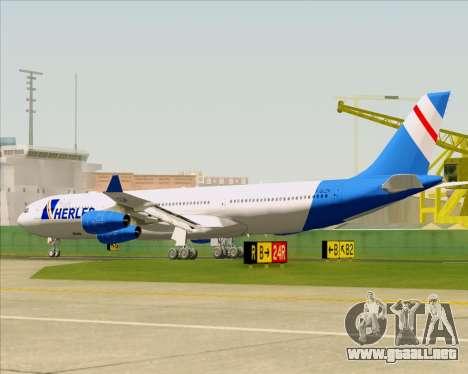 Airbus A340-300 Air Herler para las ruedas de GTA San Andreas