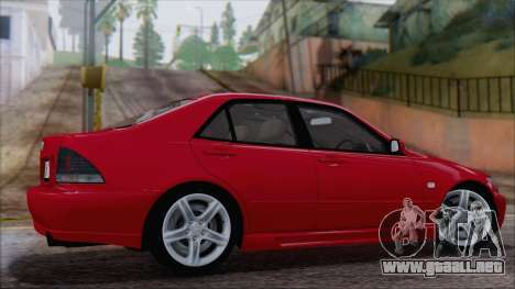 Toyota Altezza (RS200) 2004 (IVF) para GTA San Andreas left