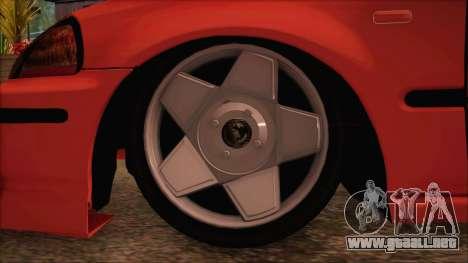 Honda Civic 34 VB 8884 para GTA San Andreas vista posterior izquierda