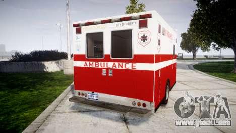 Vapid V-240 Ambulance para GTA 4 Vista posterior izquierda
