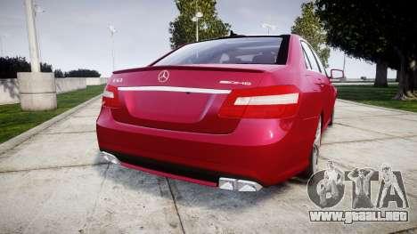 Mercedes-Benz E63 AMG para GTA 4 Vista posterior izquierda
