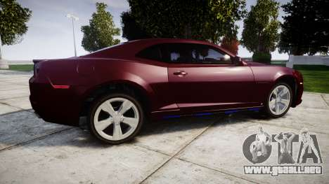 Chevrolet Camaro SS [ELS] Unmarked runners para GTA 4 left