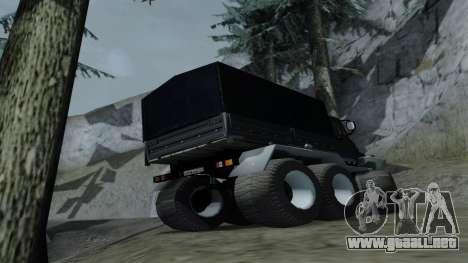 ZIL Kerzhak 6x6 para la visión correcta GTA San Andreas