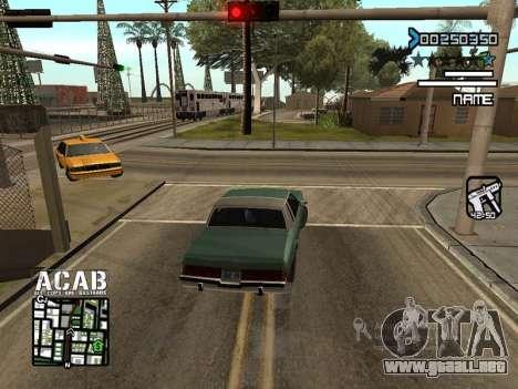 C-HUD by Edya para GTA San Andreas segunda pantalla