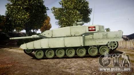 Leopard 2A7 AT Green para GTA 4 left
