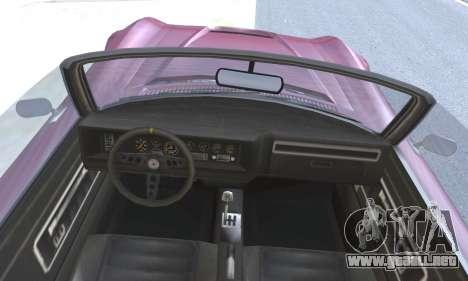 Invetero Coquette Classic v1.1 Open Top para GTA San Andreas vista posterior izquierda