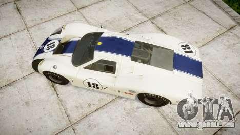 Ford GT40 Mark IV 1967 PJ 18 para GTA 4 visión correcta