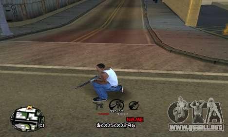 C-HUD by Jackson para GTA San Andreas segunda pantalla