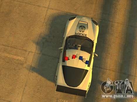 Chevrolet Corvette Z06 Police para GTA 4 vista hacia atrás