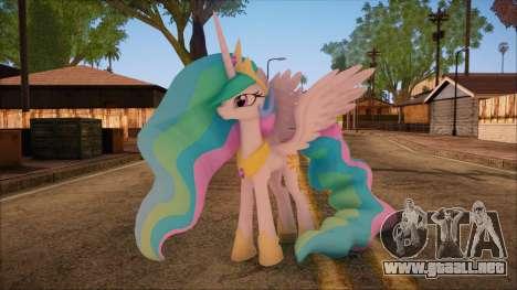 Celestia from My Little Pony para GTA San Andreas
