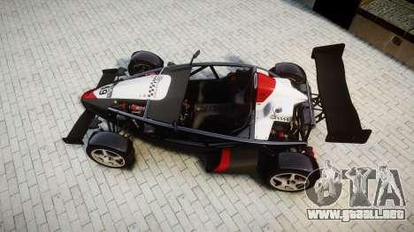 Ariel Atom V8 2010 [RIV] v1.1 Garton Racing Team para GTA 4 visión correcta