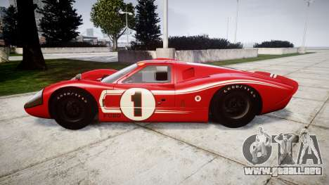 Ford GT40 Mark IV 1967 PJ 1 para GTA 4 left
