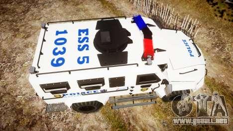 SWAT Van Police Emergency Service para GTA 4 visión correcta