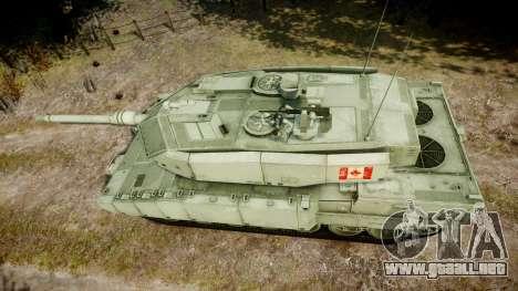 Leopard 2A7 CA Green para GTA 4 visión correcta
