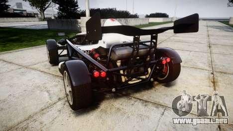 Ariel Atom V8 2010 [RIV] v1.1 FUEA Equipped para GTA 4 Vista posterior izquierda