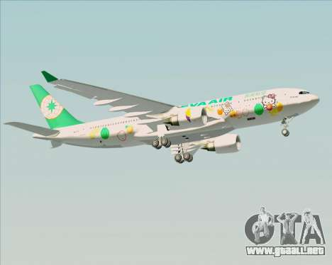 Airbus A330-200 EVA Air (Hello Kitty) para vista inferior GTA San Andreas