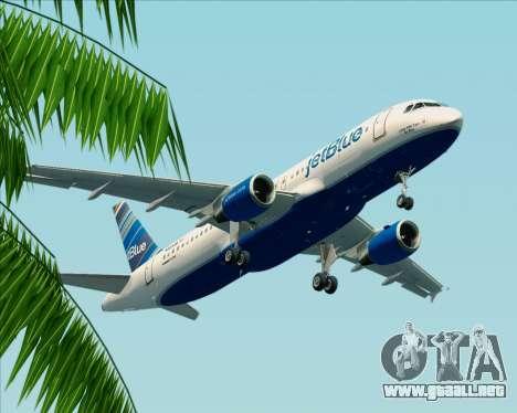 Airbus A320-200 JetBlue Airways para visión interna GTA San Andreas