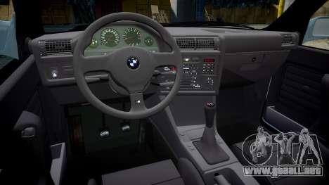 BMW M3 E30 1991 [EPM] para GTA 4 vista interior