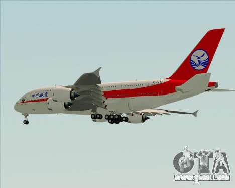 Airbus A380-800 Sichuan Airlines para vista lateral GTA San Andreas