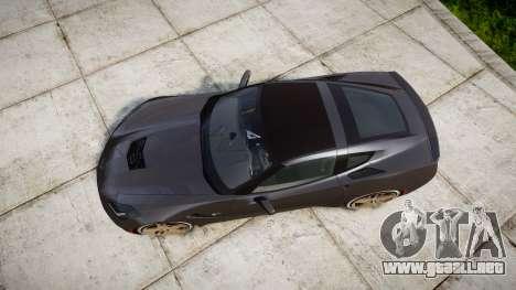 Chevrolet Corvette C7 Stingray 2014 v2.0 TireBr3 para GTA 4 visión correcta