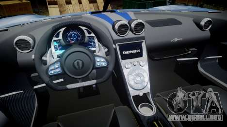 Koenigsegg Agera 2011 [EPM] [Update] para GTA 4 vista hacia atrás