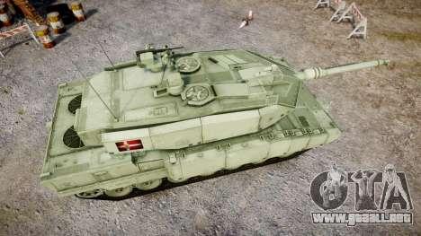 Leopard 2A7 DK Green para GTA 4 visión correcta