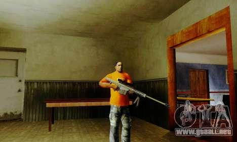 Weapon pack from CODMW2 para GTA San Andreas quinta pantalla
