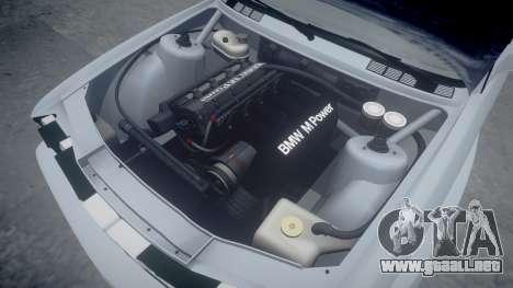 BMW M3 E30 1991 [EPM] para GTA 4 vista superior