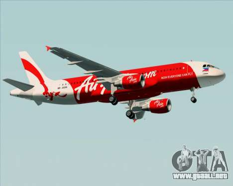 Airbus A320-200 Air Asia Philippines para vista lateral GTA San Andreas