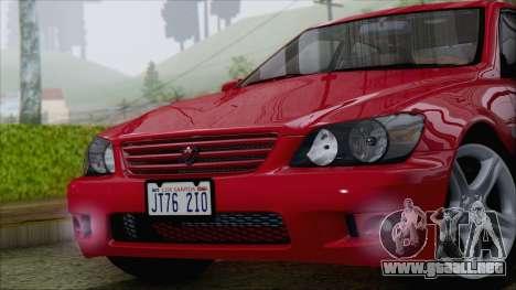 Toyota Altezza (RS200) 2004 (IVF) para la visión correcta GTA San Andreas