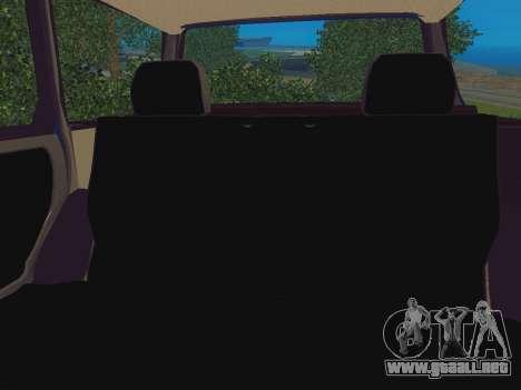 VAZ-2109 Inmuebles para GTA San Andreas vista hacia atrás