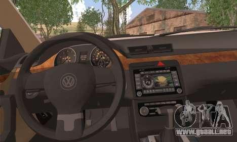 Volkswagen AirCC para GTA San Andreas vista posterior izquierda