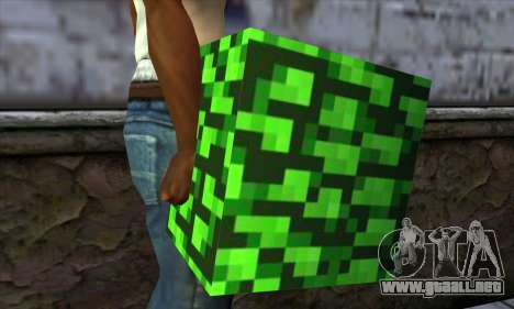 Bloque (Minecraft) v12 para GTA San Andreas tercera pantalla