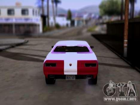 Bravado Gauntlet GTA 5 para GTA San Andreas vista posterior izquierda